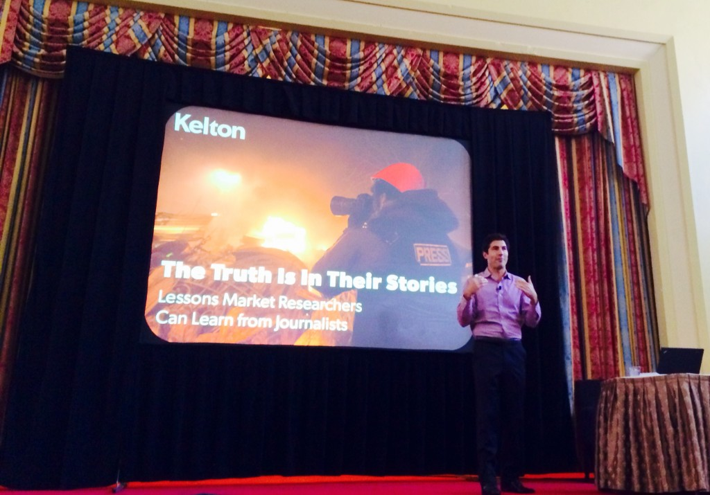 Tom Bernthal at TMRE Conference 2014 Market Research Storymaking Kelton