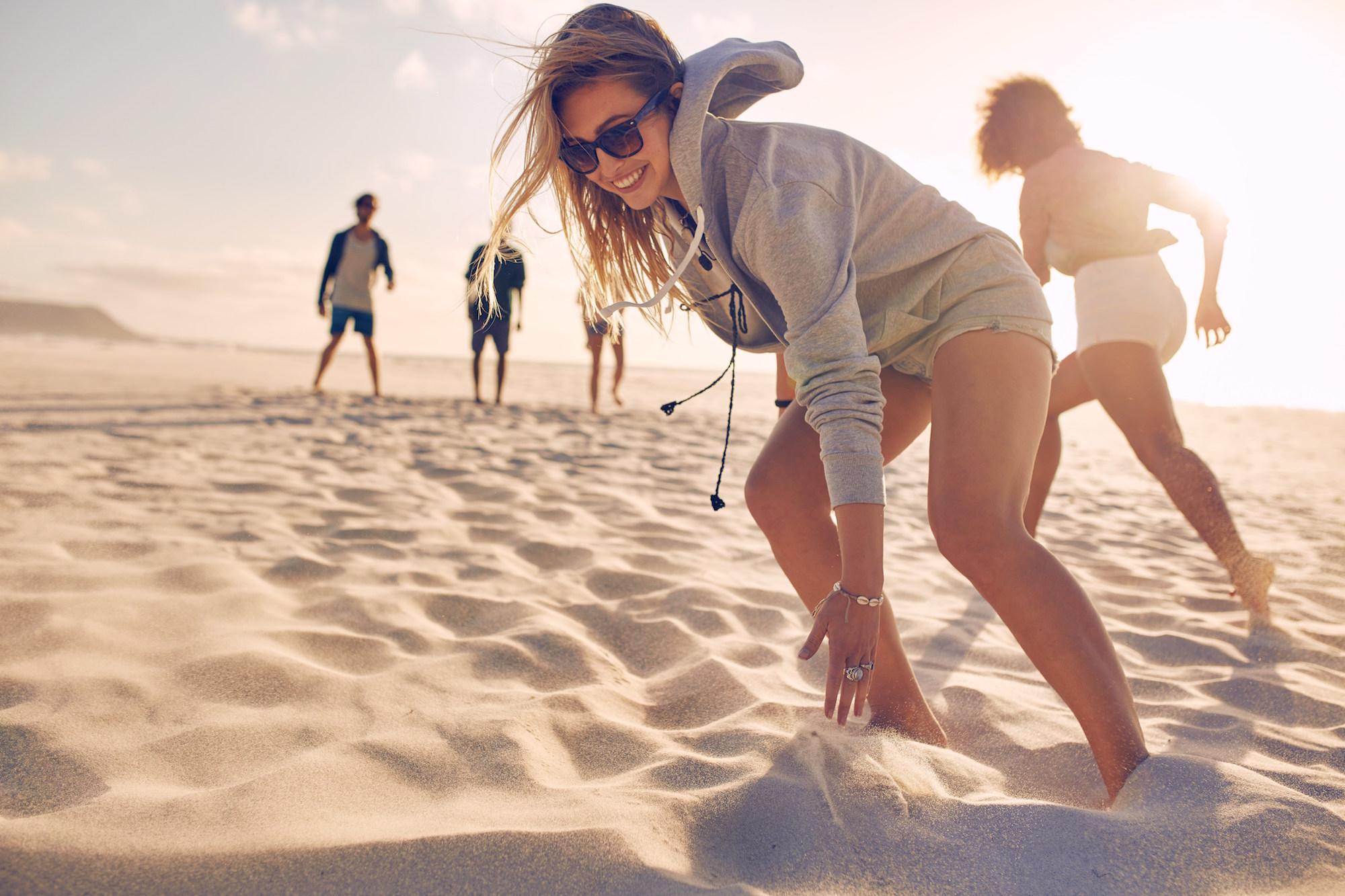 millennials beach games outdoor fun